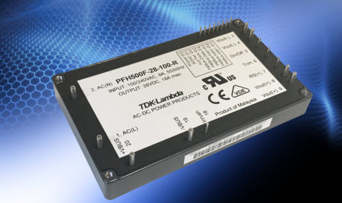PFH500F‑28 – 504 W AC-DC conduction cooled power module