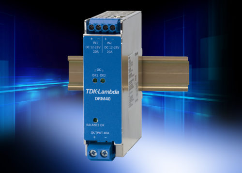 DRM40 – Low loss 20 A to 40 A DIN rail redundancy module
